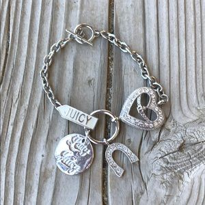 Sweet Juicy Couture Silver Lady Couture Bracelet!